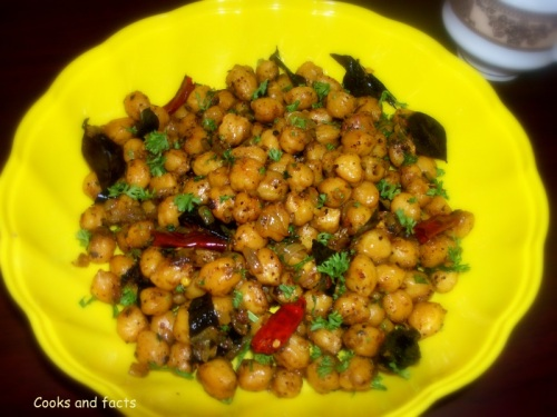 Chickpea dry fry