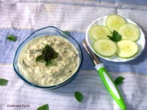 Cucumber pachadi 1