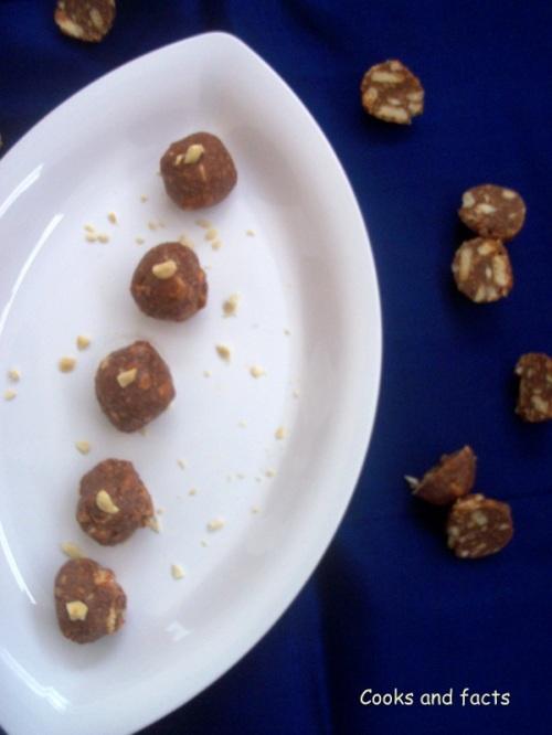 Choco- biscuit truffles