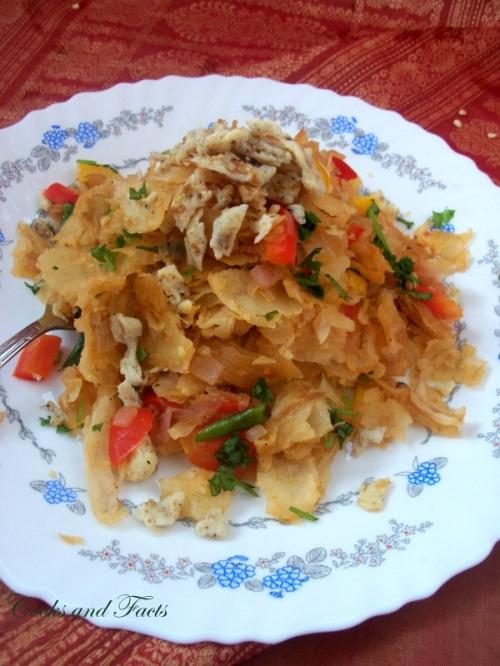 scrambled poratta