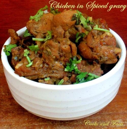 Chicken in spicy gravy