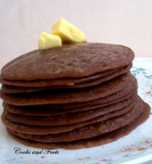 stacks of choco pancakes