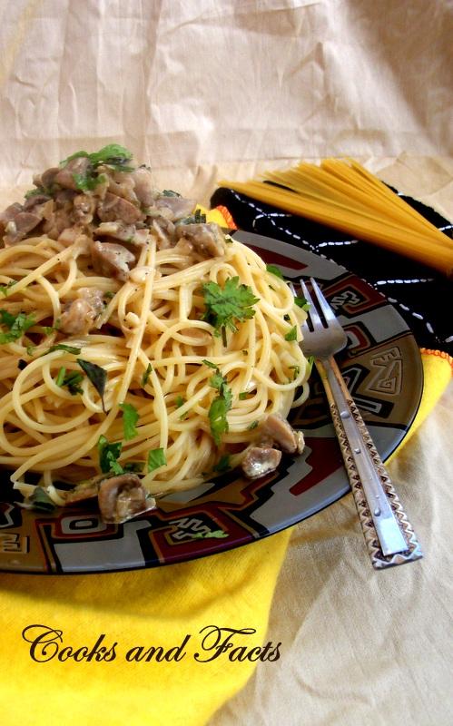 spaghetti and mushroom