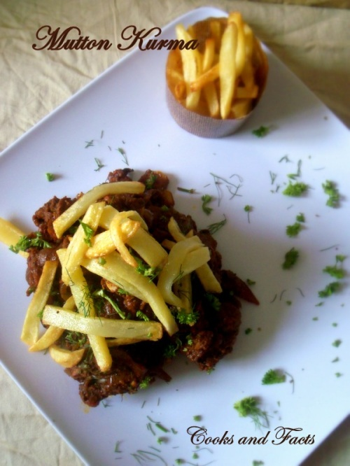 Mutton Kurma with fried chips