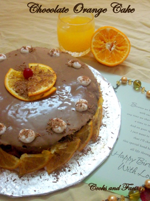 Chocolate orange cake - 4