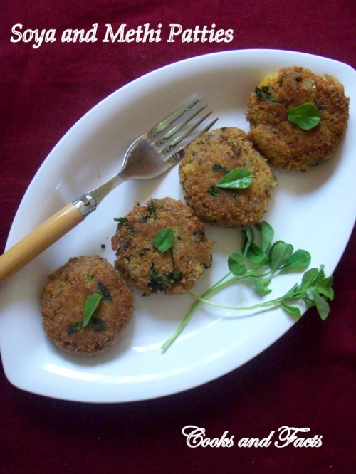 methi soya patties