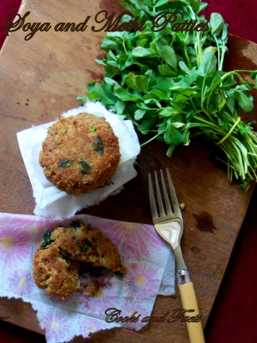 Soya methi patties